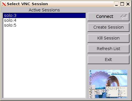 VncSelector screen shot
